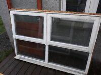 Double glazed windows and internal glazed door