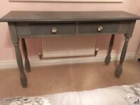 French Grey Shabby chic dressing / console table