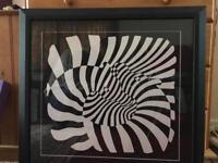 Op-Art print