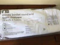Mothercare Moses Basket Foam mattress - New