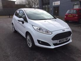 Ford Fiesta Titanium White with EcoBoost technology. Free Tax, great MPG, new tyres.