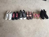 Girls Shoes Six Pairs
