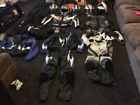 selling all my leathers helmets gloves camera