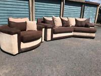 Curved corner sofa and swivel chair ex condition 230