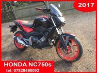 Honda, NC 750s, 2017, perfect runner, new MOT serviced