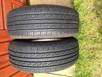 Rear Tyres (185/60R15 88H) from Renault Clio.
