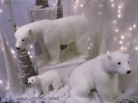 GORGEOUS LARGE POLAR BEAR . Corporate / Retail display / Christmas Grotto