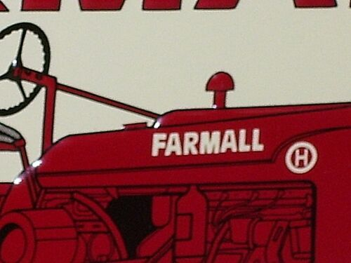 FARMALL SIGN - Rubber Tires - OLD RED FARM TRACTOR