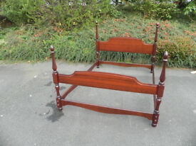 Stag minstrel mahogany four poster bed surround.