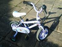 Girls 1st Bike Witn Stabilisers
