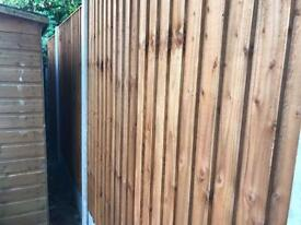 🃏New Pressure Treated Brown Feather Edge Flat Top Fence Panels