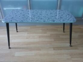 50s 60s black and white coffee table
