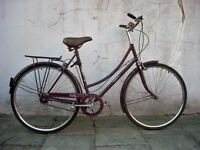 Ladies Dutchie/Commuter/ Town Bike by Raleigh, Burgandy,A Good Pub Bike! JUST SERVICED/ CHEAP PRICE!