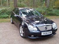 Mercedes-Benz C Class 2.1 C200 CDI Sport Edition 2dr Metallic Black (2006)