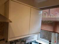 Howdens kitchen cabinets, drawers and White gloss doors