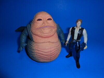 Star Wars 1997 Potf Collection Han Solo With Jabba The Hutt ~ Complete