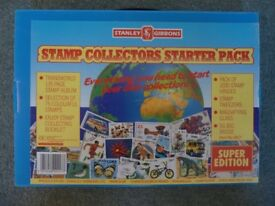 Stanley Gibbons Stamp Collectors starter Pack + extra stamps