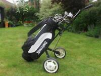 Left Handed Golf Clubs & Trolley