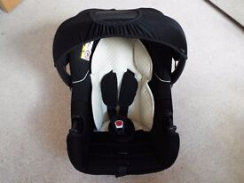 Mothercare Ziba Baby Car Seat - Black. Used - excellent condition (£70 new at Mothercare)