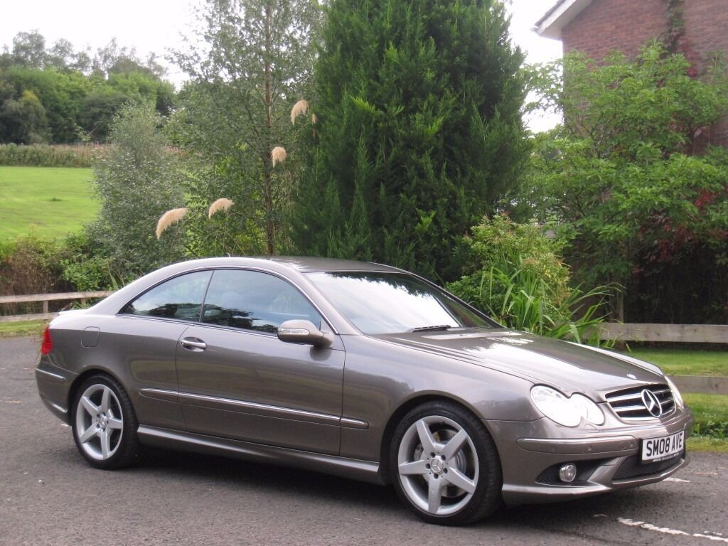 2008 mercedes benz clk 320 cdi amg sport full history rare indium grey command. Black Bedroom Furniture Sets. Home Design Ideas