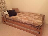 Stack a bed - 2 singles with mattresses