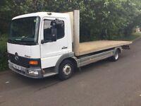 Mercedes 7.5 flat bed truck