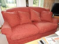 Sofa workshop red 3 seater sofa, large and very comfy