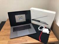 "Apple MacBook Pro 15"" Touchbar Space Grey 512GB SSD 2.7GHz i7 16GB MLW82B/A"