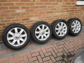 """VW Golf Mk5 16"""" Alloy Wheels and Tyres"""