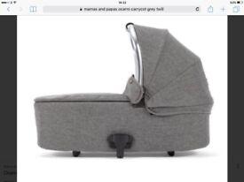 BNIB-Mamas & Papas Ocarro carrycot/bassinet-Grey Twill