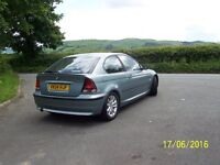 BMW 3 SERIES 316 TI COMPACT IN MET GREEN ONLY 21,875 MILES.