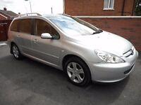 2005 peugeot 307 sw se{7 seat model,pan roof,just serviced,finance,warranty ava,71k}