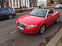 RS RED 07 REG AUDI A4 2.T FSI S LINE CONVERTIBLE