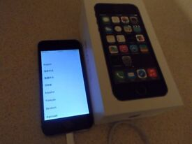 IPHONE 5S -- 32GB -- ON 3 NETWORK
