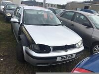 2002 Volkswagen Golf, 1.6 Petrol, Breaking for parts only, All parts available