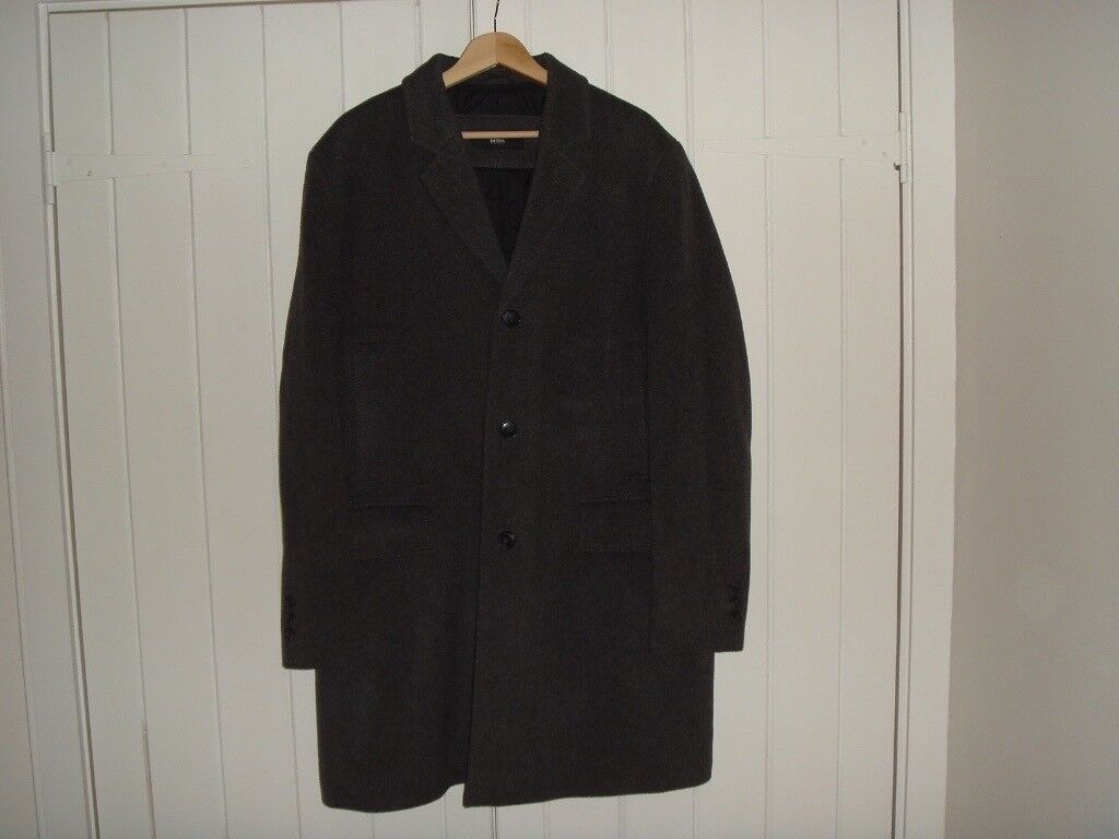 Hugo Boss cashmere coat XL