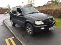 2003 53 MERC ML270 CDI AUTO TOP SPEC XENON LIGHTS PRIVACY GLASS LEATHERS Px WELCOME