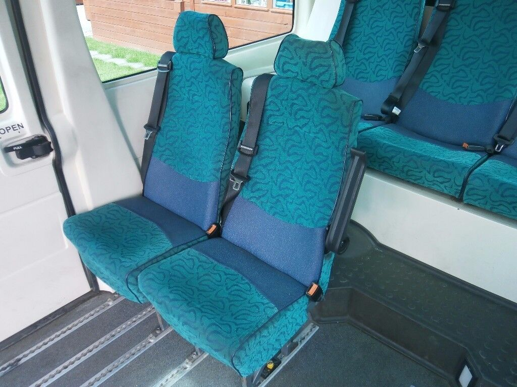 11 x Minibus seats with fittings for unwin style tracking
