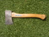 Wilkinson, England 1 ½ pound hand axe with ash shaft. Little used. £15.