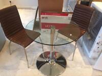 John Lewis table and 2 chairs