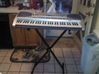 casio key board with stand and mic