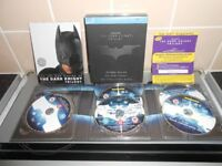 THE DARK KNIGHT 5 DISC BLU RAY TRILOGY - LIMITED EDITION BOXSET - AS NEW