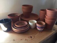 Assortment of plant pots (sold as seen)