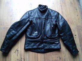 Ladies Kevlar leather motorcycle jacket .