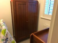 Child's wardrobe and chest of drawers.