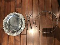 French cake serving plate
