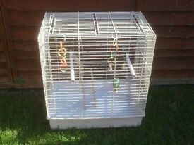 BIRD CAGE WITH POTS PERCHES £15