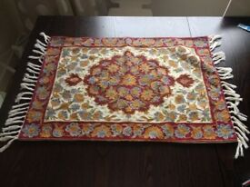 Small Rug with Nepalese Floral Pattern