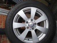 4 x16 GENUINE MERCEDES AlLOY WHEELS AND COMERCIAL TYRES WILL FIT VITO/VIANO