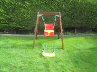 PLUM wooden frame and swing